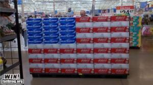 American Flag Beer Display
